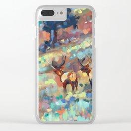 Bull Elk, Yellowstone Clear iPhone Case