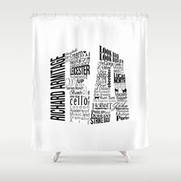 RA initial Shower Curtain