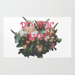 Do Epic Shit flowers bouquet Rug
