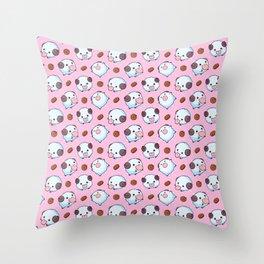 Pink Poros Throw Pillow