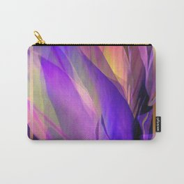 """""""Ultraviolet leaves and hexagonal golden grid"""" Carry-All Pouch"""