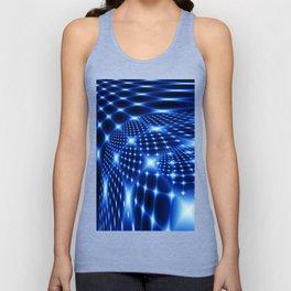 Glowing net fractal Unisex Tank Top