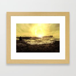 Behind The mountains Framed Art Print