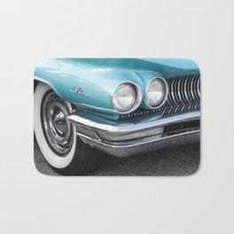 Vintage Car Photography | Turquoise Bedroom Art Bath Mat