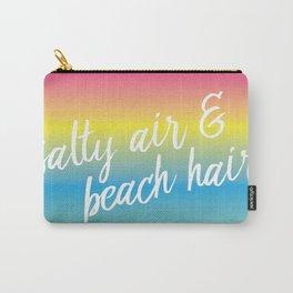 Salty Air & Beach Hair - Rainbow Ombre Carry-All Pouch