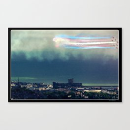 Red Arrows over Carrickfergus Castle Northern Ireland Canvas Print