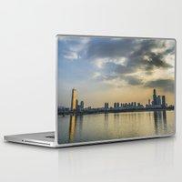 seoul Laptop & iPad Skins featuring Seoul Skyline by Clayton Jones