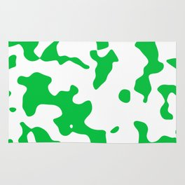 Large Spots - White and Dark Pastel Green Rug