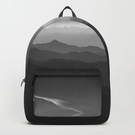 Misty mountains. WB. Yesterday Backpack
