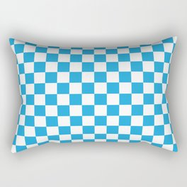 Oktoberfest Bavarian Large Blue and White Checkerboard Rectangular Pillow