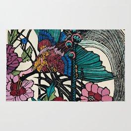 """Bird of Paradise"" by Margaret Preston Rug"