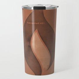 "Ray Bradbury ""Fahrenheit 451"" - Minimalist illustration literary design, bookish gift Travel Mug"