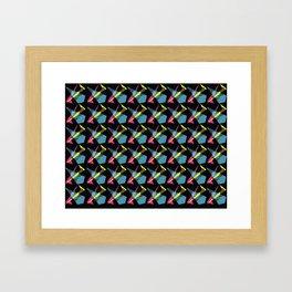 Phil Heartz Wallpaper Print Black Framed Art Print