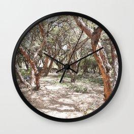 Sacsayhuaman trees Wall Clock