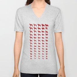 All Dogs (Red) Unisex V-Neck