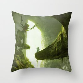 How do you mean you don't wanna go outside? Throw Pillow