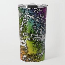 Abstract Rainbow Brush Strokes Travel Mug