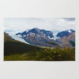 The Athabasca & Snow Dome Glaciers in Jasper National Park, Canada Rug