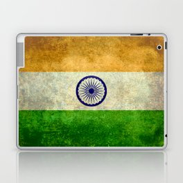 Flag of India - Retro Style Vintage version Laptop & iPad Skin