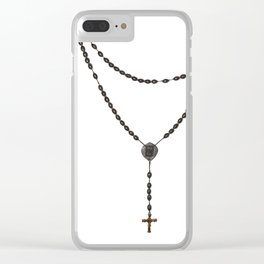 Wooden Rosary I Clear iPhone Case