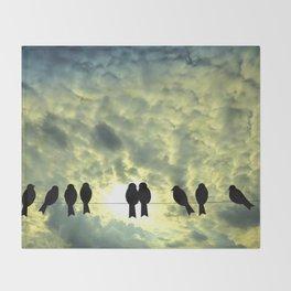 Birds Silhouette Throw Blanket