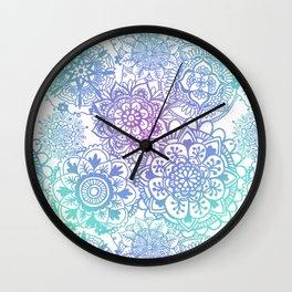 Pastel Mandala Pattern Wall Clock