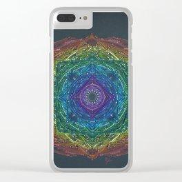 Colorful Chakra Mandala Clear iPhone Case