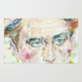 JEAN COCTEAU - watercolor portrait.2 Rug
