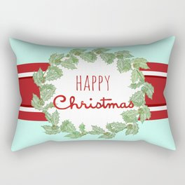 Happy Christmas striped holiday Rectangular Pillow