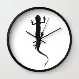 Newt amphibian creature silhouette Wall Clock