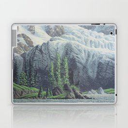 HIDDEN TOWER IN THE INLAND PASSAGE VINTAGE OIL PAINTING Laptop & iPad Skin