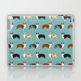Australian Shepherd owners dog breed cute herding dogs aussie dogs animal pet portrait hearts Laptop & iPad Skin