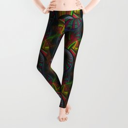 Tunneling Abstract Fractal Leggings