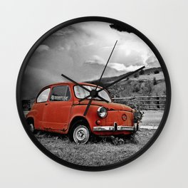 Old Car on the Countryside Wall Clock