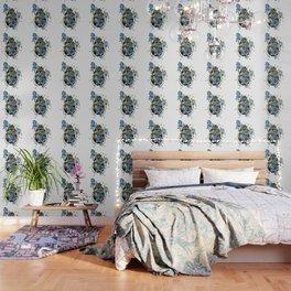 Beetle in blue irises Wallpaper