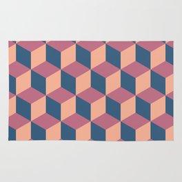 Isometric Cube Pattern Rug