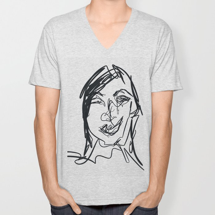 Portraiture Unisex V-Neck