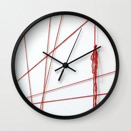 Red String Bracelet Wall Clock
