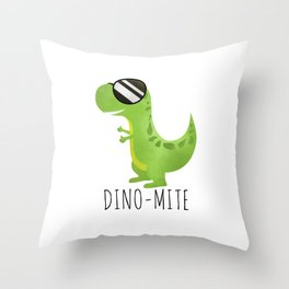 Dino-Mite Throw Pillow