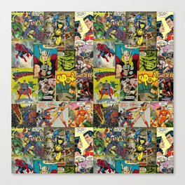 Comic Pattern Canvas Print