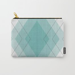 Teal Diamonds Carry-All Pouch
