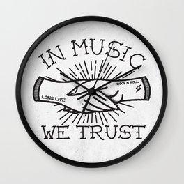 In Music We Trust Wall Clock