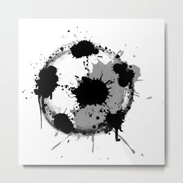 Grunge football ball Metal Print