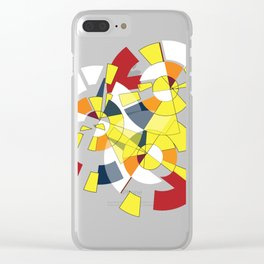 Geometric Mood Clear iPhone Case