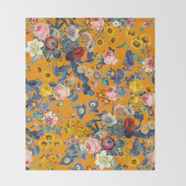 Summer Botanical Garden IX Throw Blanket