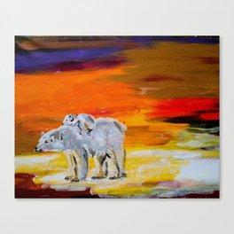 Polar Bears Surviving Canvas Print