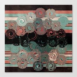 Peachy Mint Swirls Canvas Print