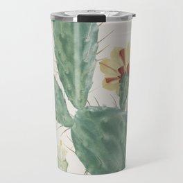 Vintage boho tribal chic succulent aloe cactus agave antique botanical desert print Travel Mug