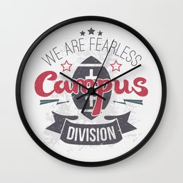 The emblem of rugby campus team in retro style Wall Clock