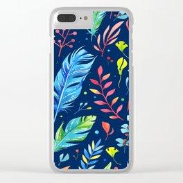Boho Chic Blue by Mimi Bondi Clear iPhone Case